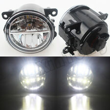 1 Pair White LED Fog Light Bulbs For Renault Ford NISSAN Mitsubishi SUZUKI DACIA