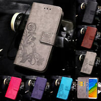 For Xiaomi Redmi Note 9S 9 8 Pro Magnetic Pattern Leather Flip Wallet Case Cover