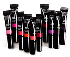 MAKE UP FOR EVER NIB Set of 10 Acrylip Liquid Tube Glossy Shine Lipstick Bucket