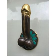 "PENIS shape DOOR PULL HOOK hand made solid 100% brass 9 "" handle heavy   B"