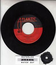 "ABBA  Waterloo & Watch Out 7"" 45 rpm vinyl record + juke box title strip"