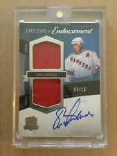 2012-13 ERIC LINDROS THE CUP EMBLEMS OF ENDORSEMENT PATCH AUTO # 03/15 EE-EL