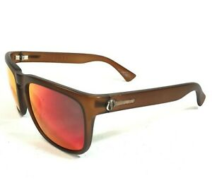 Electric Knoxville Sunglasses Clear Brown Square Frames w/ Multicolor Lenses 130