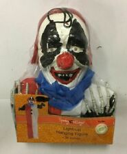 SPOOKY VILLAGE LIGHT-UP SCARY CLOWN HANGING FIGURE FOR HALLOWEEN,FREE SHIPPING