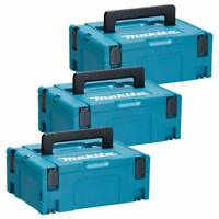 Makita 821550-0 MakPac Type 2 Connector Case 396mm x 296mm x 157mm Pack of 3