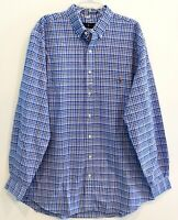 Polo Ralph Lauren Big and Tall Mens 3XLT Blue Plaid Button-Front Shirt NWT 3XLT