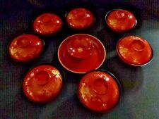 Set of 8 Japanese Lacquerware  Soup/Rice Bowls w/Lids 5