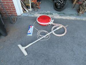 Vintage Hoover Celebrity Orange  flying saucer Vacuum made in usa WORKS Clean
