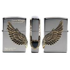 Zippo Love Wings 1 BK Lighter Genuine Original Packing 6 Flints set Free GIFT