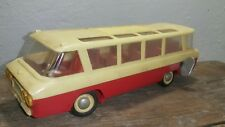 VINTAGE BUS 1974 TOY WIND UP TOURIST METAL HARD PLASTIC USSR CCCP SOVIET RUSSIA