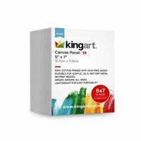 KINGART™ Canvas Panel 5 x 7 inch, 14-Pack