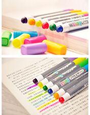 Monami color highlighter fluorescent 6 pens / gel solid marker pen korea 6013