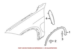 For BMW Genuine Wheel Arch Molding Front Left 51777319843
