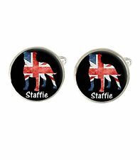 Staffie Staffordshire Bull Terrier Dog Mens Cufflinks Birthday Fathers Gift c400