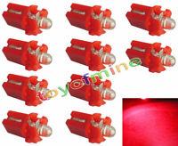 10X T5 Car Gauge LED Speedo Dashboard Dash Wedge Side Light Bulb Lamp Red 12V