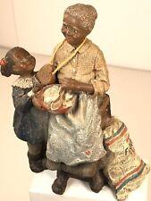 Sarahs Attic Rare African American Figurine Girl&Grandma Limited Ed. 917/5000