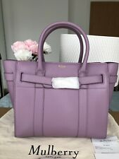 Mulberry Bayswater Zipped Handbag Tote Lilac Small Genuine Sold Out W Receipt