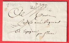 MARQUE P46P MARVEJOLS LOZERE 1824 ESPAGNAC LETTRE COVER