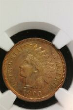 NGC 1903 INDIAN CENT UNCIRCULATED UNC DETAILS ALTERED COLOR RED BEAUTY 499036