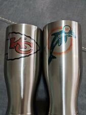 NFL Pilsner 20oz Tumbler - Kansas City Chiefs, Miami Dolphins, Dallas Cowboys