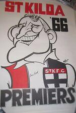 Darrel Baldock (St.Kilda FC Legend) signed 1966 Weg Premiership Poster  (#642)