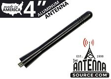 "**SHORT**  4"" BLACK ALUMINUM ANTENNA MAST - FITS: 2014-2020 Nissan Versa Note"