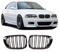 BMW E46 2 dr coupe cabrio M3 gloss black kidney grilles grille double spoke UK
