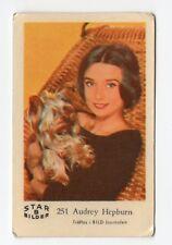 1960s Swedish Film Star Card Bilder B #251 My Fair Lady Actress Audrey Hepburn