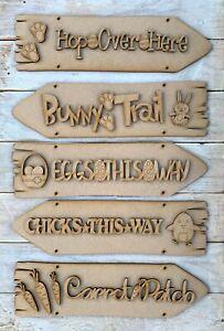 MDF Hanging Easter Egg Hunt Easter Direction Sign Easter Decoration Craft Kit