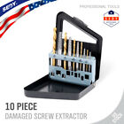 10pc Screw Extractor Easy Out Left Hand Drill Bit Remover Broken Bolt Cobalt