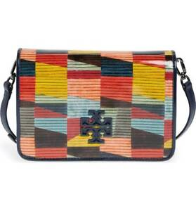 NWT IN PLASTIC TORY BURCH Britten Printed Patent Leather  Crossbody~  RARE $475
