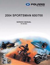 Polaris Repair Service Workshop Shop Manual Book 2004 SPORTSMAN 700