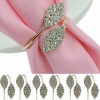 Set of 6 Rhinestone Napkin Ring Handmade Serviette Buckle Holder Wedding Dinner