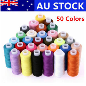 50X Roll Polyester Colors Sewing Thread Box Kit Set For DIY Sewing Machine Home