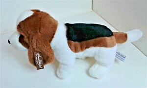 "Basset Hound Anna Club Leather Tag Line 12"" Soft Toy Plush Comforter EXC"
