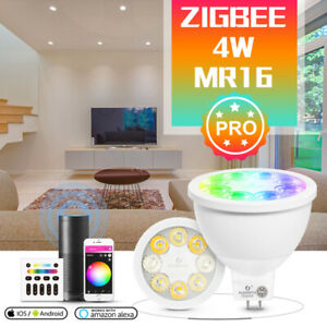 GLEDOPTO ZigBee3.0 RGB+CCT Smart MR16 LED Spotlight APP Voice RF Remote Control=