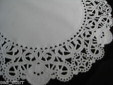 "10"" inch WHITE PAPER FILIGREE STAR LACE DOILIES 25 PCS USA ROUND WEDDINGS ❤"