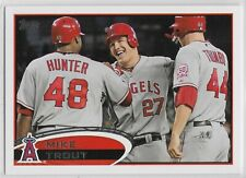 2012 Topps #446 Mike Trout Los Angeles Angels Torii Hunter Mark Trumbo