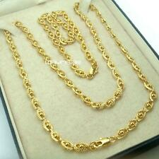 n288A- Set Ladies 18k Gold Filled Elegant bracelet & Chain Necklace 17.7 inches,