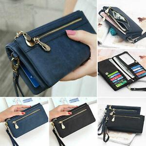 Women Lady Leather Wallet Long Card Holder Phone Bag Case Purse Handbag New