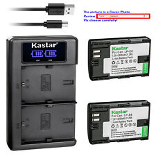 Kastar Battery LKD2 USB Charger for Canon LP-E6NH & Canon EOS R5, EOS R6 Camera