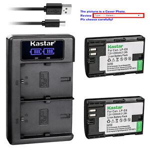 Kastar Battery LKD2 Charger for Canon LP-E6 LP-E6N LC-E6 & Canon EOS 90D Camera