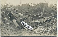 Foto-Frankreich- Ort ?(Somme) zerstörtes Geschütz/Minenwerfer 1.WK (c663)