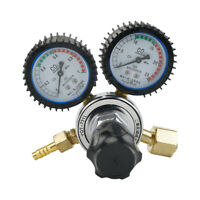 Dual Gauge Argon CO2 Pressure Valve Regulator Flow Meter For Welding Beer