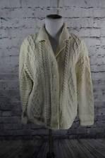 Paul James Womens Wool Cream Fisherman Cardigan Sweater S England