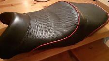 honda blackbird cbr1100xx seat black with red piping