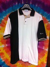 Vintage White, Black, Tan MOTOROLA Polo Shirt - Mens Size M (Selling Collection)