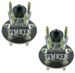 Pair Set 2 Rear Timken Wheel Bearing & Hub Kits for Chevrolet Pontiac Saturn FWD