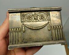 Antique little art nouveau jugendstil metal WMF OX I/O jewlery box case German