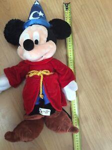 Disney World Mickey Mouse Wizard Fantasia Sorcerers Apprentice 50cm Soft Plush